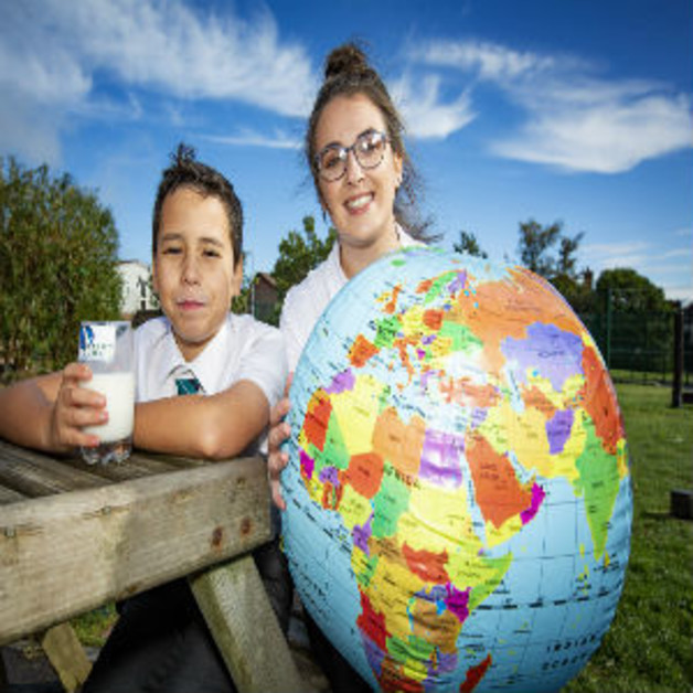 Milk's on the menu for local school pupils Image